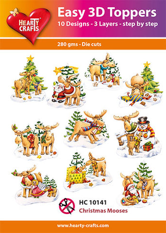 Easy 3D Die-Cut Toppers - Christmas Mooses