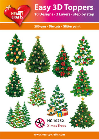 Easy 3D Die-Cut Toppers - Christmas Trees