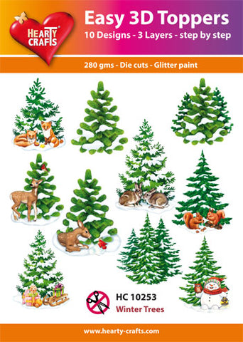 Easy 3D Die-Cut Toppers - Winter Trees