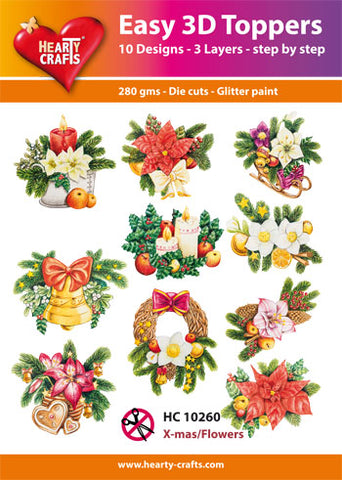 Easy 3D Die-Cut Toppers - X-mas Flowers