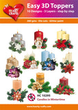 Easy 3D Die-Cut Toppers - Candles in Wintertime