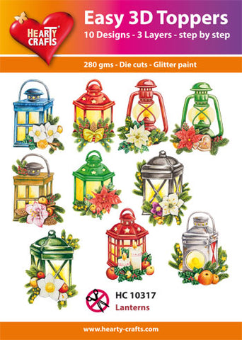 Easy 3D Die-Cut Toppers - Christmas Lanterns