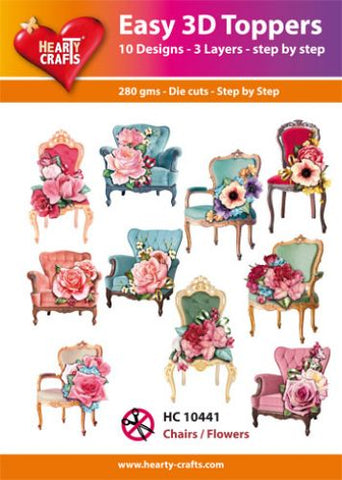 Easy 3D-Toppers Chairs/Flowers