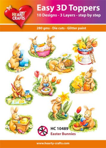 Easy 3D-Toppers Easter Bunnies