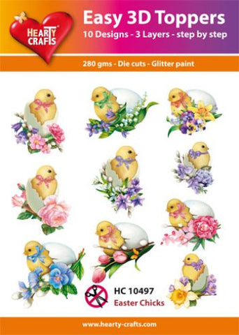 Easy 3D-Toppers Easter Chicks