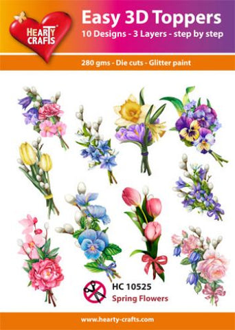 Easy 3D-Toppers Spring Flowers