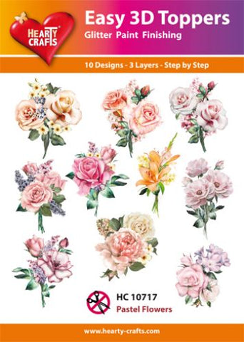 Easy 3D Die-Cut Topper - Pastel Flowers