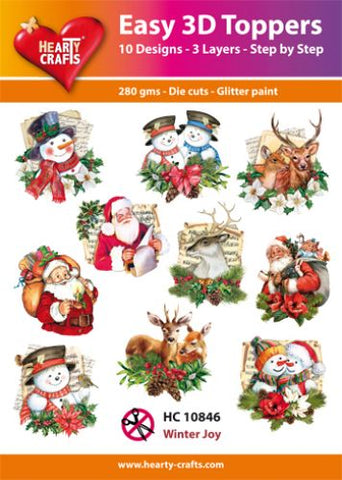 Easy 3D Die-Cut Toppers Winter Joy