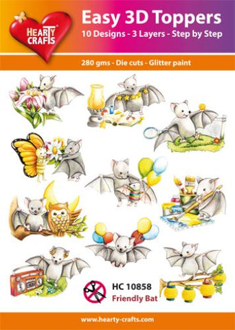 Easy 3D Die-Cut Toppers Friendly Bats