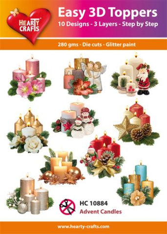 Easy 3D Die-Cut Toppers Advent Candles