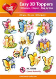 Easy 3D Die-Cut Toppers Comic Butterfly