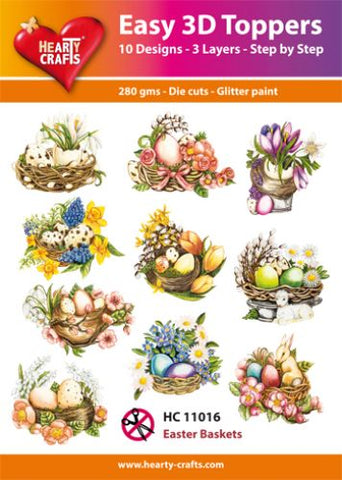 Easy 3D Die-Cut Toppers - Easter Baskets