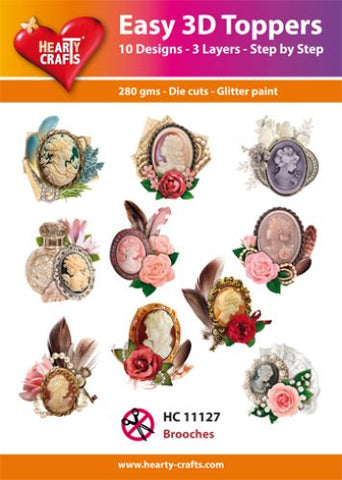 Easy 3D Die-Cut Topper - Brooches - Cameos