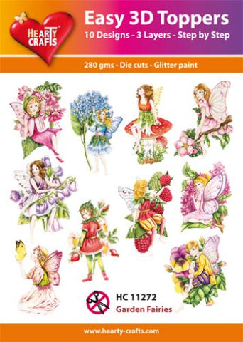 Easy 3D Die-Cut Topper - Garden Fairies