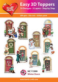 Easy 3D card toppers - Winter Doors