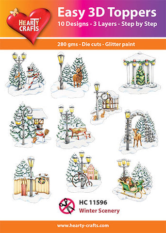 Easy 3D Die-Cut Toppers - Winter Scenery