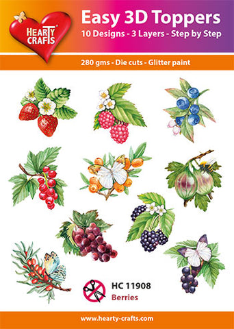 Easy 3D Die-Cut Toppers - Berries