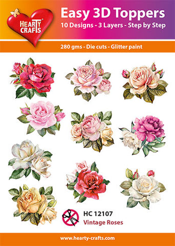 Easy 3D Die-Cut Topper - Vintage Roses