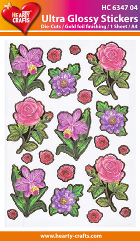 Ultra Glossy Stickers - Flowers