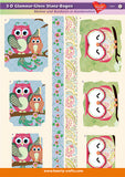 Charming Owls 3D Die-Cut Value Pack