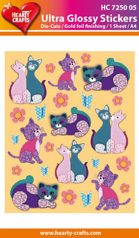 Ultra Glossy Stickers - Designer Cats