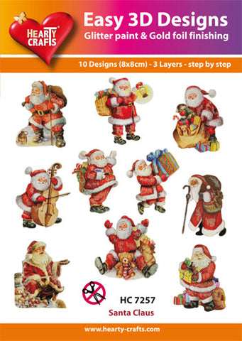 Easy 3D Die-Cut Toppers - Santa Claus