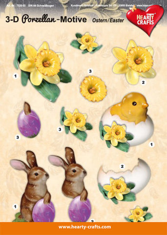 3D Decoupage sheet - Porcelain Easter
