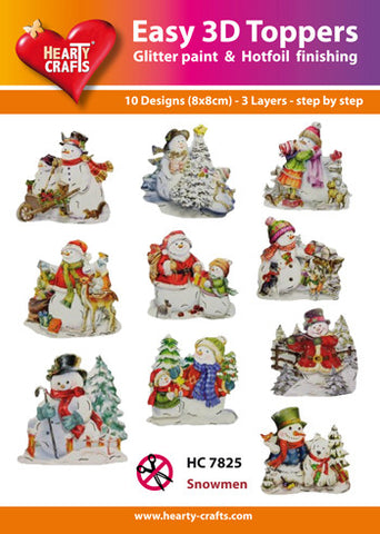 Easy 3D Die-Cut Toppers - Snowmen 3