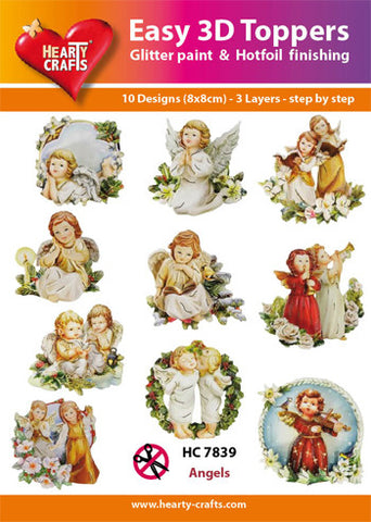 Easy 3D Die-Cut Toppers - Angels