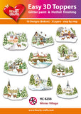 Easy 3D Die-Cut Toppers - Winter Village