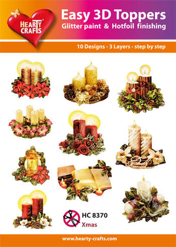 Easy 3D Die-Cut Toppers - Christmas Candles