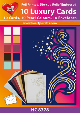 "Die-Cut Luxury Cards ""Marie"" assorted colors w/envelopes, 10 pack"