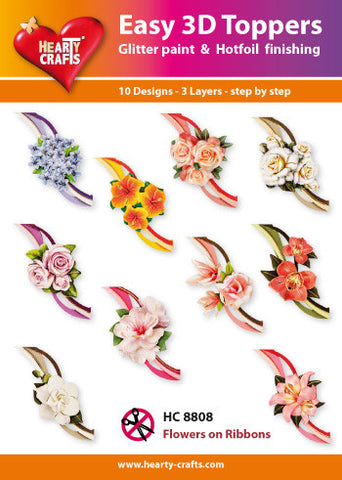 Easy 3D Die-Cut Toppers - Flowers on Ribbons