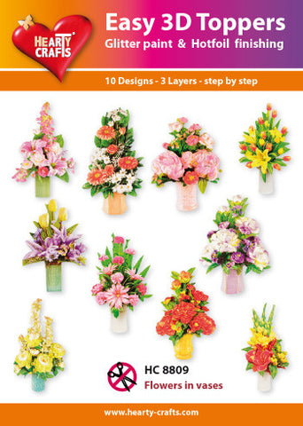 Easy 3D Die-Cut Toppers - Flowers in Vases 4
