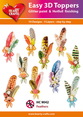 Easy 3D Die-Cut Toppers - Feathers