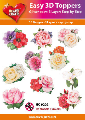 Easy 3D Die-Cut Toppers - Romantic Flowers