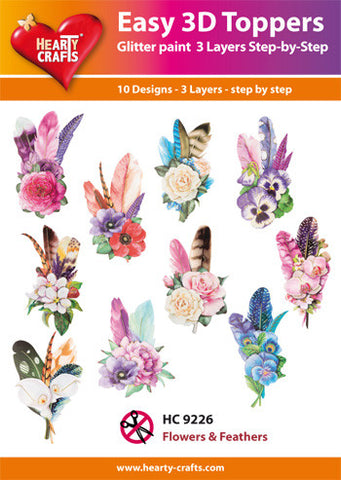 Easy 3D Die-Cut Toppers - Flowers & Feathers