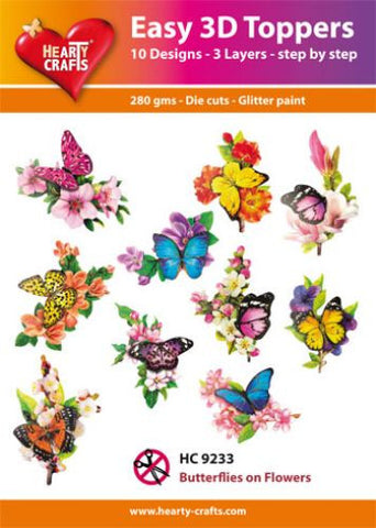 Easy 3D Die-Cut Toppers - Butterflies On Flowers