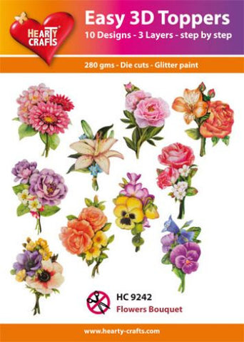 Easy 3D Die-Cut Toppers - Flowers Bouquet