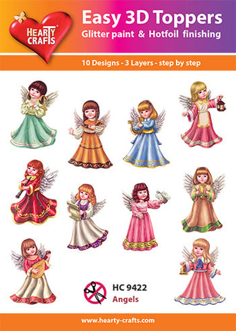 Easy 3D Die-Cut Toppers - Angels 3