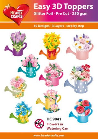 Easy 3D Die-Cut Toppers - Flowers in Watering Can