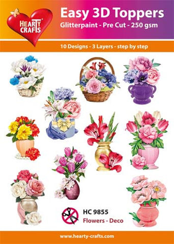 Easy 3D Die-Cut Toppers - Flowers Deco