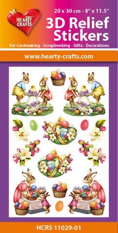 3D Relief Stickers A4 - Easter