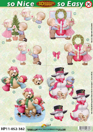 Morehead 3D Die Cut Sheet - Children's Christmas