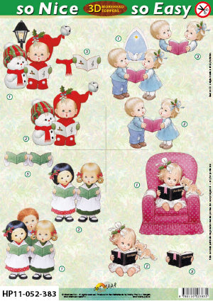 Morehead 3D Die Cut Sheet - Christmas Carolers