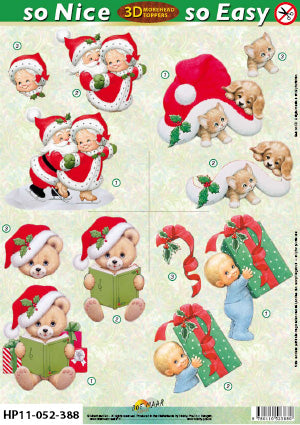Morehead 3D Die Cut Sheet - Christmas