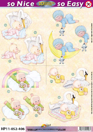 Morehead 3D Die Cut Sheet - Baby