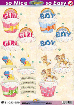 Morehead 3D-die cut sheet - Baby