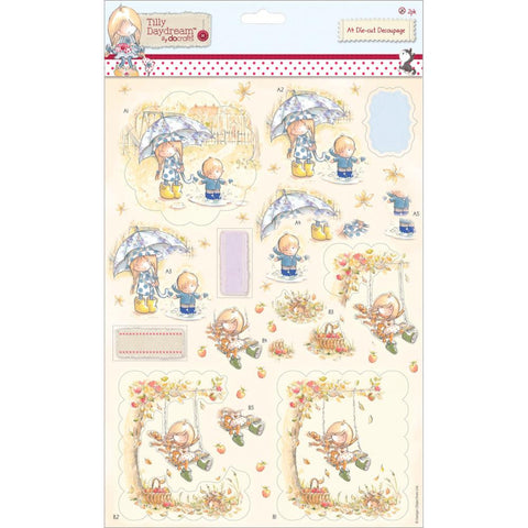 Tilly Daydream Swing A4 Decoupage Pack 2/Sheets