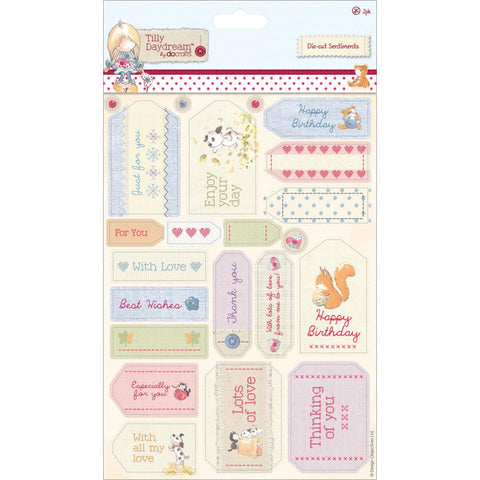 Tilly Daydream Cardstock Die-Cuts Sentiments 2/Sheets